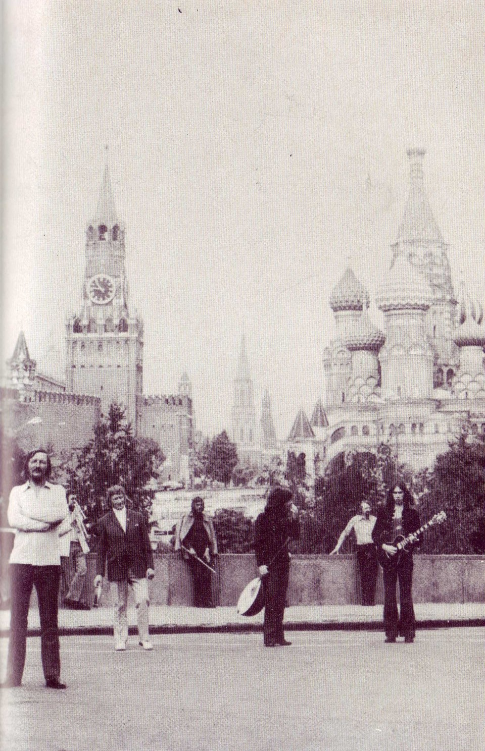 (From the book) An appropriately chaotic photoshoot for the Moscow tour.