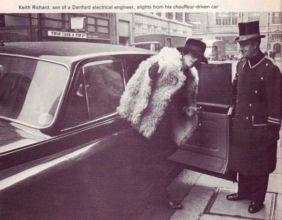 Keith Richards and chauffeur