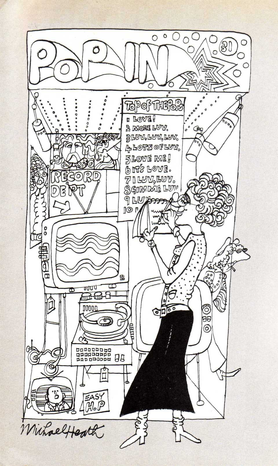 (From the book) I'm loving it: Michael Heath's cartoon from the inside front cover..