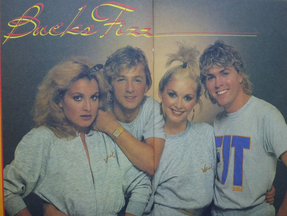 Bucks Fizz: They prompted a worldwide shortage of grey marl polyester cotton begin.
